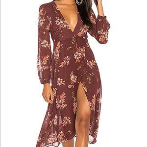 ASTR Nikki Dress in Wine Floral
